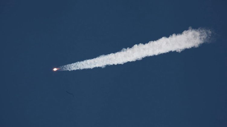 (Le cargo russe Progress M-27M au décollage mardi depuis le Kazakhstan © Maxppp)