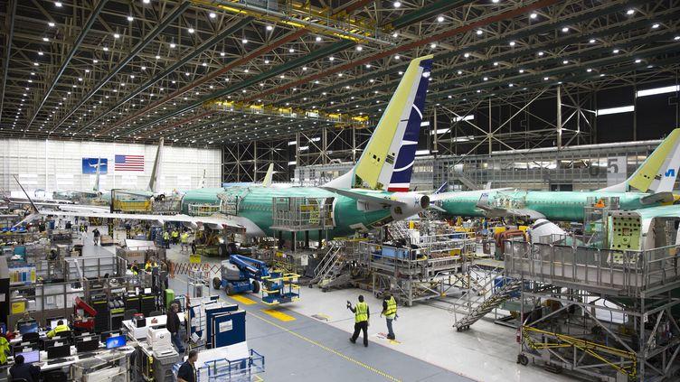 Un Boeing 737 Max àRenton (Etats-Unis), le 27 mars 2019. (JASON REDMOND / AFP)