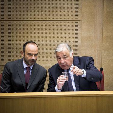 Le Premier ministre, Edouard Philippe et Gérard Larcher, le 17 juillet 2017 à Paris. (NICOLAS MESSYASZ/SIPA / NICOLAS MESSYASZ)