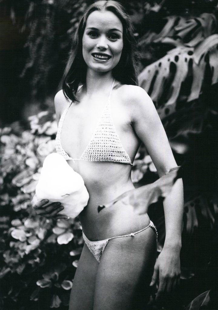 """Renate Langer, alors âgée de 21 ans, sur le tournage du film """"Les Désirs de Melody in Love"""", en 1978. (MAXPPP)"""