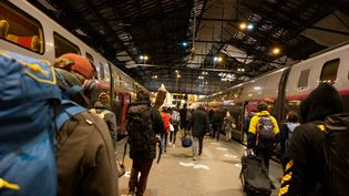 La gare de Lyon à Paris, le 25 janvier 2021. (SANDRINE MARTY / HANS LUCAS / AFP)