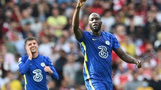 Romelu Lukaku s'est illustré dès son premier match pour son retour à Chelsea. (JUSTIN TALLIS / AFP)