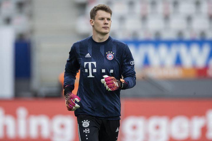 Alexander Nübel file en prêt à l'AS Monaco jusqu'en 2025. (TOM WELLER / AFP)