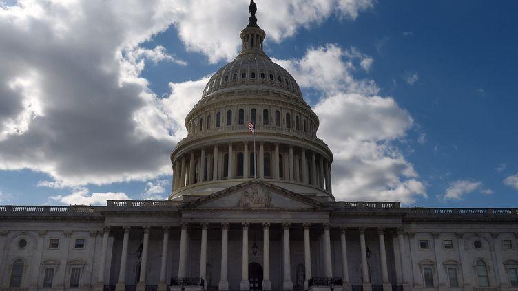 LeCapitole à Washington (Etats-Unis), le 6 mars 2021. (OLIVIER DOULIERY / AFP)