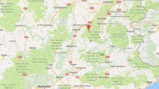 L'incident s'est produit vers 17heureslors d'une sortie d'un club de spéléologie de Privas. (GOOGLE MAPS)