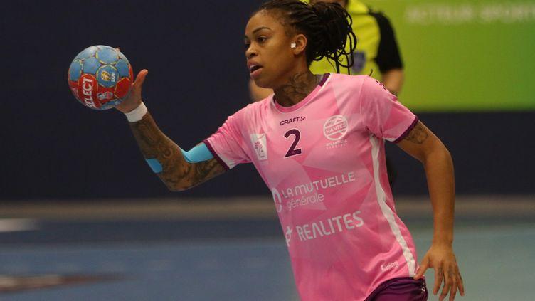 Les handballeuses de Nantes ont remporté la Ligue Européenne dimanche 9 mai. (LUDOVIC DUPRAZ / MAXPPP)