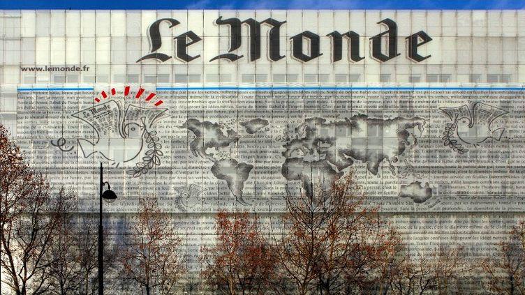 """Les locaux du journal """"LeMonde""""à Paris (13e arrondissement), le 13 février 2014. (MANUEL COHEN / AFP)"""