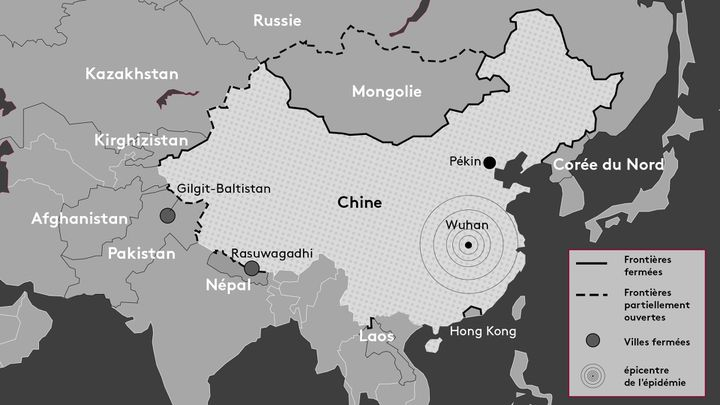 Les frontières chinoises fermées (FRANCEINFO)