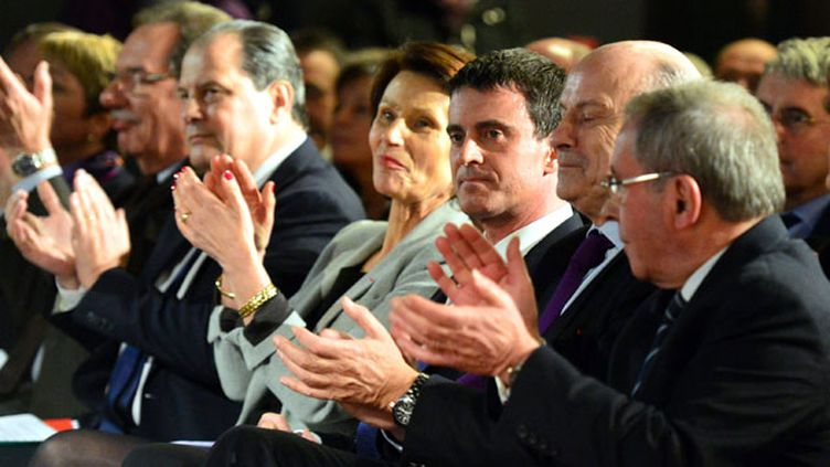 (Manuel Valls en meeting jeudi soir près de Limoges © MAXPPP)