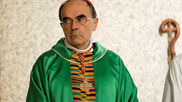 Le cardinal Barbarin lors d'une cérémonie à Vénissieux (Rhône), le 30 septembre 2018. (EMMANUEL FOUDROT / REUTERS)