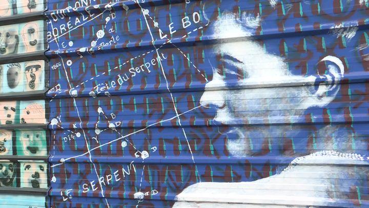 La fresque de Sébastien Bouchard à Nantes pour le projet Skyhome. (A. Ropert /  France Télévisions)