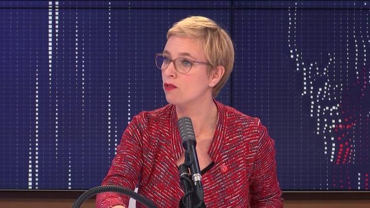 """Clémentine Autain, députée La France Insoumise de Seine-Saint-Denis, était l'invitée du """"8h30franceinfo"""", jeudi 22octobre 2020. (FRANCEINFO / RADIOFRANCE)"""