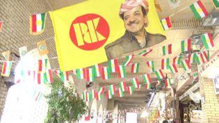 Sous l'impulsion de son président Massoud Barzani, le Kurdistan irakien s'apprête à voter sur son indépendance lundi, en dépit des pressions internationales mais aussi de ses divisions internes. (GILLES GALLINARO / RADIO FRANCE)