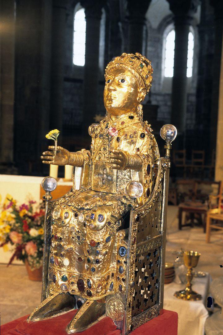 LaMajesté de sainte Foy, unique en France est exposée au Musée de Conques  (YVON BOELLE / ONLY FRANCE)