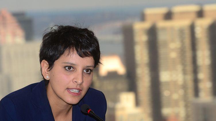 11 décembre 2012, la ministre des droits de la femme et porte-parole du gouvernement Najat Vallaud-Belkacemà l'ONU à New York (EMMANUEL DUNAND / AFP)
