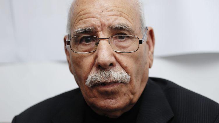 Le vétéran de la guerre d'Algérie, Lakhdar Bouregaa,à Alger, le 15 novembre 2015. (RYAD KRAMDI / AFP)