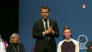 Emmanuel Macron en meeting en Gironde. (FRANCE 2)