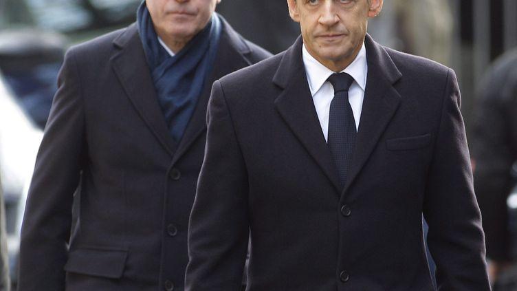 Claude Guéant et Nicolas Sarkozy, en octobre 2011. (MAXPPP)