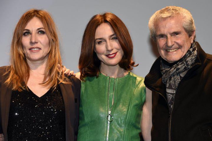 Mathilde Seigner, Elsa Zylberstein et Claude Lelouch, président du jury longs métrages du Festival international du Film Fantastique de Gérardmer  (PHOTOPQR/L'EST REPUBLICAIN)