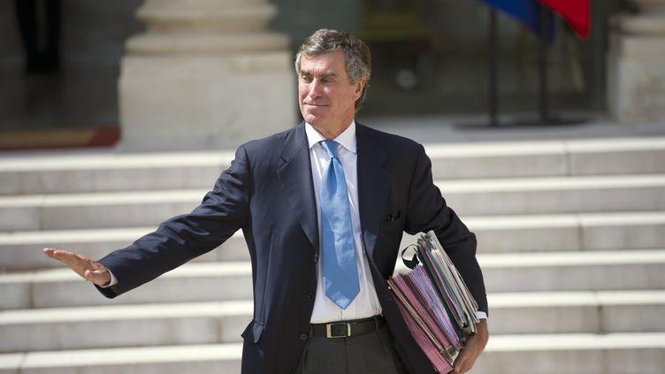 Le ministre du Budget, Jérôme Cahuzac, à la sortie de l'Elysée, le 6 septembre 2012. (FRED DUFOUR / AFP)