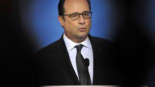 Le président François Hollande le 13 juillet 2015 à Bruxelles (Belgique). (JEAN-CHRISTOPHE VERHAEGEN / AFP)