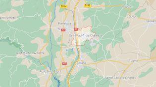 La commune de Saint-Paul-Trois-Château (Drôme), où le suspect a été interpellé, le 20 octobre. (capture d'écran)