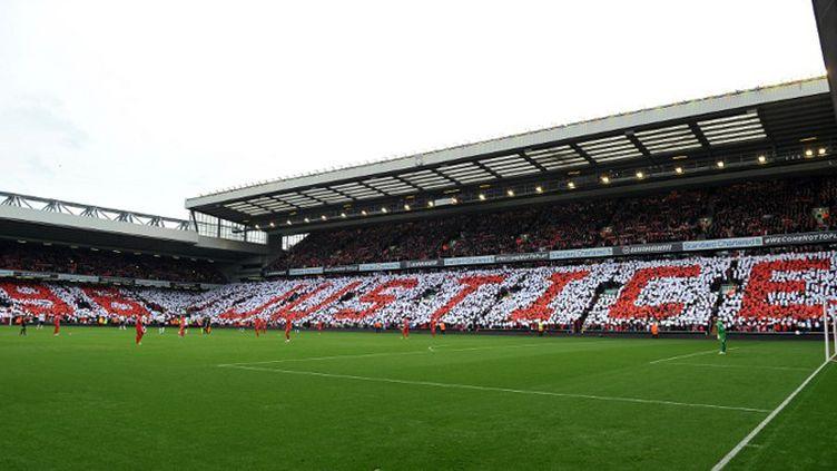 Les célèbres tribunes d'Anfield à Liverpool