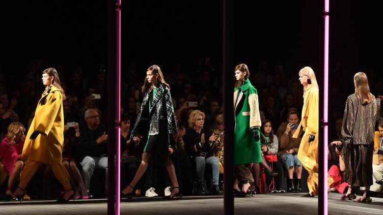 Défilé pour la Fashion Week de Lisbonne (Portugal) pour la collection Carlos Dig, le 9 mars 2019. (XINHUA)