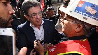 Jean-Luc Mélenchon à Marseille,le12 septembre 2017. (ANNE-CHRISTINE POUJOULAT / AFP)