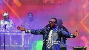 Le chanteur sénégalais Youssou N'dour lors d'un concert à Abidjan, en Côte d'Ivoire, le 7 avril 2019. (SIA KAMBOU / AFP)