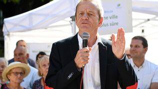 L'ancien maire de Grenoble Alain Carignon, lors d'un discours le 8 septembre 2018. (JEAN-PIERRE CLATOT / AFP)