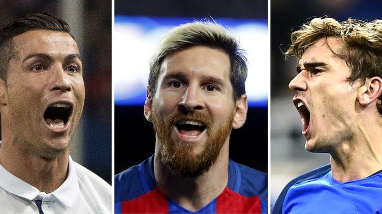 Messi et Griezmann derrière Ronaldo (PAU BARRENA,MIGUEL MEDINA,CURTO DE LA TORRE / AFP)