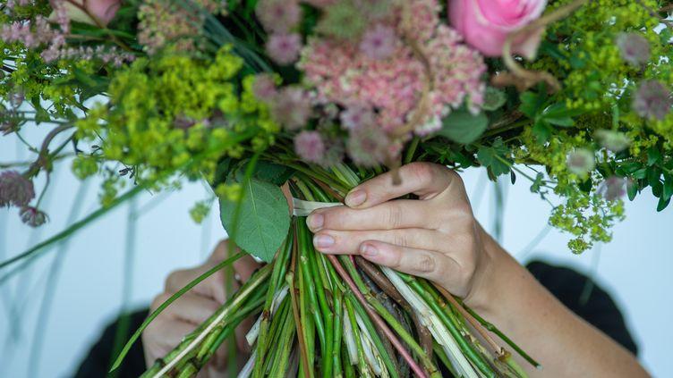 Un bouquet de fleurs au championnat allemand des fleuristes. Photo d'illustration. (Klaus-Dietmar Gabbert/dpa-Zentralbild/ZB)