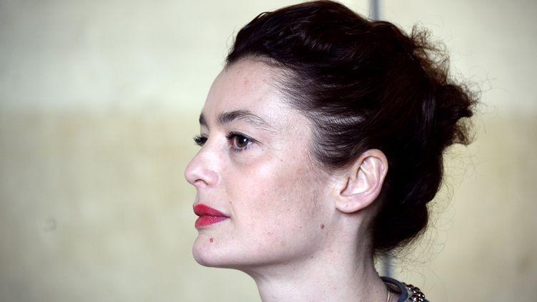 Aurélie Dupont, alors danseuse étoile, le 15 avril 2015 à Paris, lors de l'annonce de ses adieux à la scène. (BERTRAND GUAY / AFP)