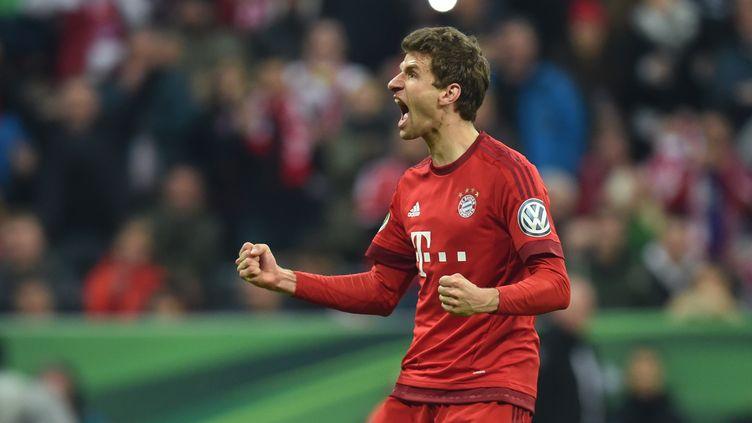 Thomas Müller toujours prêt à s'enflammer (Bayern Munich) (CHRISTOF STACHE / AFP)