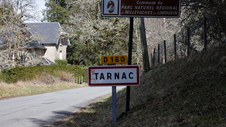 La ville de Tarnac (Corrèze), le 8 mars 2018. (PASCAL LACHENAUD / AFP)