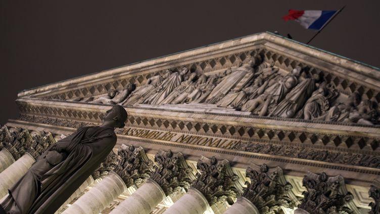 L'Assemblée nationale à Paris, le 4 février 2013. Le projet de loi sur le mariage pour tous doit y revenir en deuxième lecture le 23 avril. (JOEL SAGET / AFP)