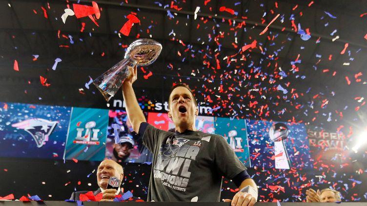 Tom Brady, le quaterback de New England, vainqueur de son 5e Super Bowl, aux dépens d'Atlanta. (KEVIN C. COX / GETTY IMAGES NORTH AMERICA)