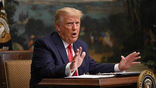 Le président américain Donald Trump à la Maison Blanche, à Washington, le 26 novembre 2020. (ANDREW CABALLERO-REYNOLDS / AFP)