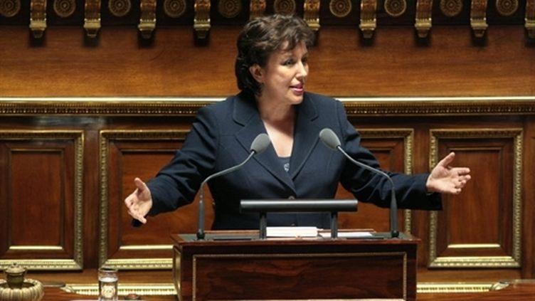 La ministre de la Santé Roselyne Bachelot défend le projet de loi de réforme de l'hôpital, au Sénat, le 12 mai 2009. (AFP - Jacques Demarthon)