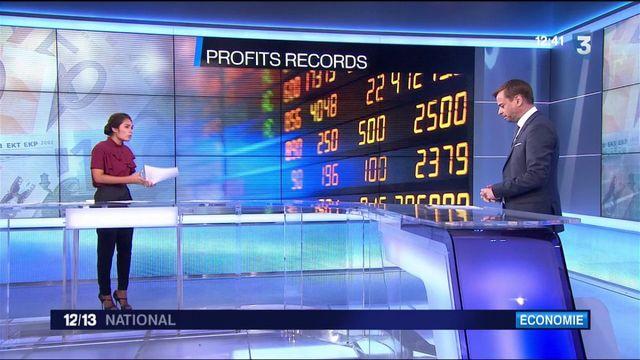 Economie : des profits record pour les entreprises du CAC 40