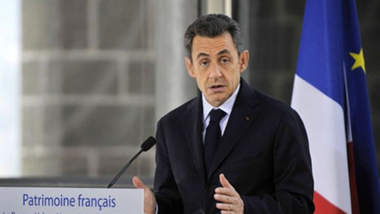 Nicolas Sarkozy au Puy-en-Velay (3 mars 2011) (AFP/HIERRY ZOCCOLAN)