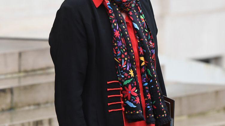 La ministre du Travail, Muriel Pénicaud,à la sortie de l'Elysée, le 27 novembre 2019. (ALAIN JOCARD / AFP)