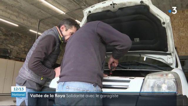 Vallée de la Roya : après la tempête Alex, la solidarité des habitants permet à un garagiste sinistré de reprendre du service