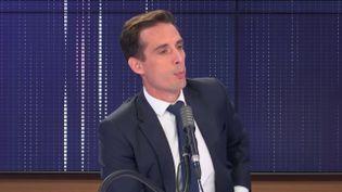 Jean-Baptiste Djebbari, ministre délégué auprès de la ministre de la Transition écologique, chargé des Transports, sur franceinfo le 7 septembre 2020. (FRANCEINFO / RADIOFRANCE)