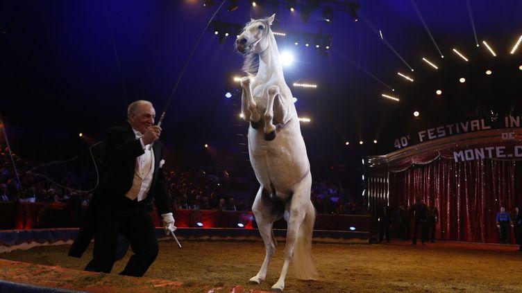 Alexis Gruss, le fondateur de la compagnie de cirque qui porte son nom, ci-contre à Monaco, le 19 janvier 2016. (VALERY HACHE / POOL / AFP POOL)