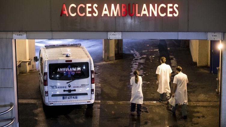 Entrée du service des urgences de l'hôpital Bichat, à Paris, le 12 janvier 2017 (photo d'illustration) (MAXPPP)