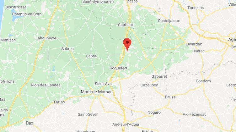 La commune deBourriot-Bergonce dans les Landes.  (GOOGLE MAPS / FRANCETV INFO)