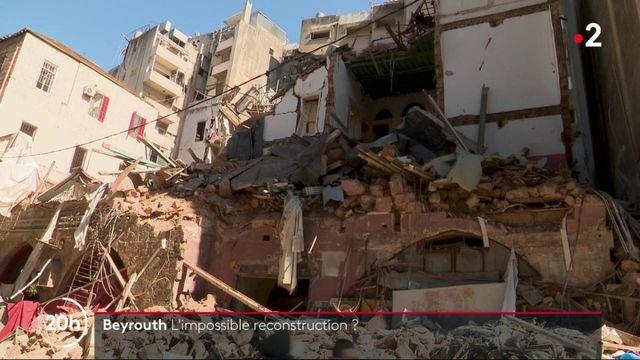 Beyrouth : une reconstruction difficile, faute de moyens