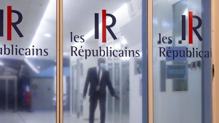 Au siège du parti Les Républicains, à Paris. Illustration. (VINCENT ISORE / MAXPPP)